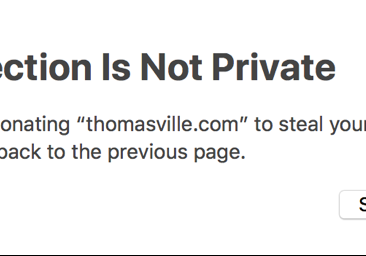 Connection not private example